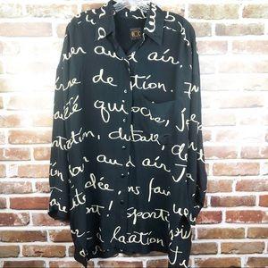 Ellen Tracy Silk Men Dress Shirt